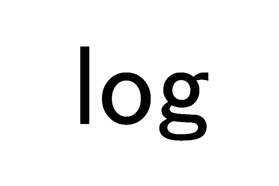 違い log ln